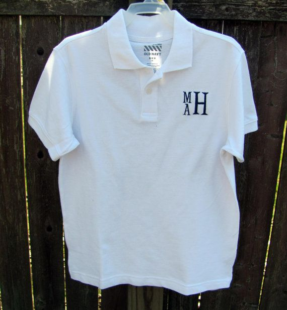 Boys Monogrammed Polo Shirt Creations For Eleanor Pinterest