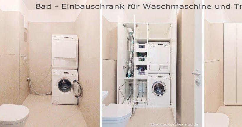 Einbauschrank Bad Waschmaschine Und Trockner Trockner Auf