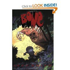Bone: The Complete Cartoon Epic in One Volume [Paperback], (graphic novel, comics, bone, jeff smith, fantasy, childrens literature, book, bone comic book, dragons, strong heroine)