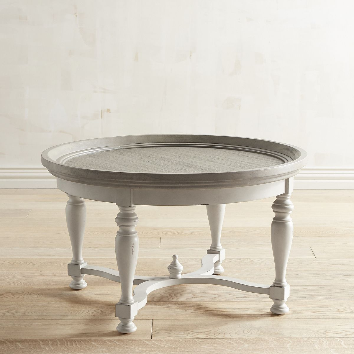 Amelia Shadow Gray Round Coffee Table Round Coffee Table Round