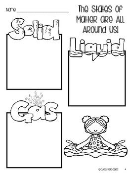 States of Matter Freebies {Graphic Organizer & Flip Book