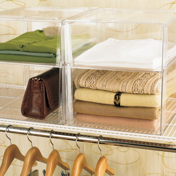 Premium Stackable Shirt Sweater Bins In 2019 Organize Closet