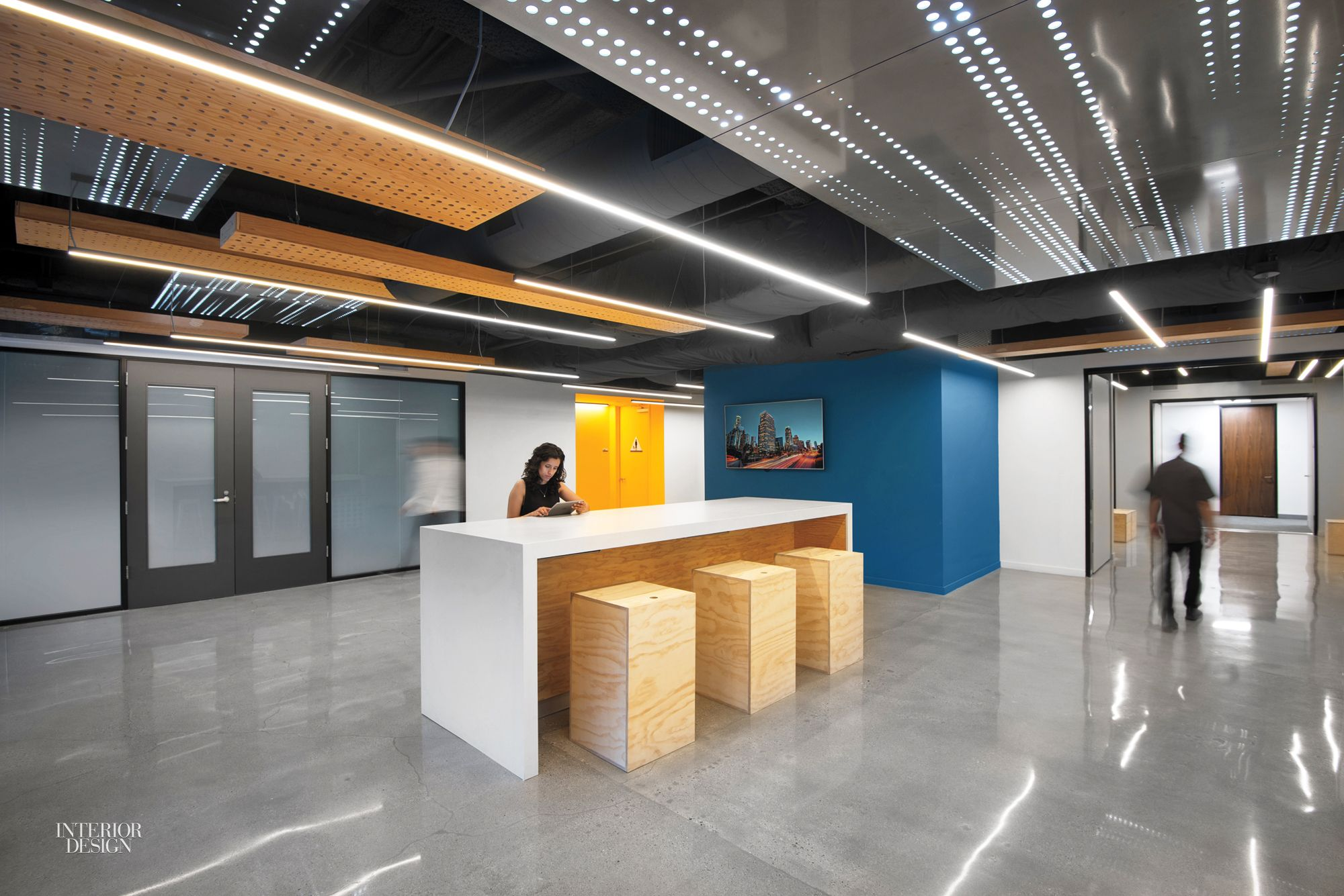 corporate office lobby. Modren Lobby Patrick Tighe Jazzes Up Two Generic Office Buildings With Sleek Lobbies And Corporate Lobby