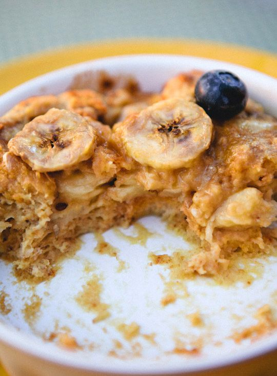 Peanut Butter Banana Breakfast Bread Pudding