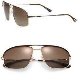 Tom Ford Eyewear - Justin 60MM Navigator Sunglasses