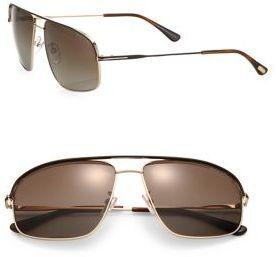 94068aa32eb Tom Ford Eyewear Justin 60MM Navigator Sunglasses Tom Ford Glasses