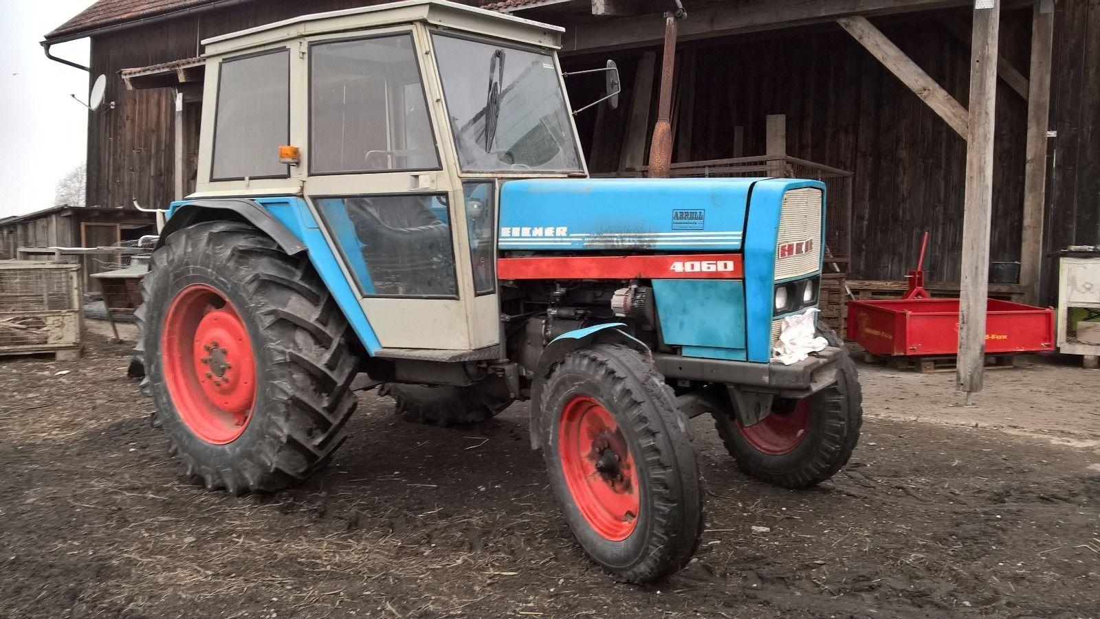 traktor schlepper eicher 4060 mit kabine 60ps bj 1980. Black Bedroom Furniture Sets. Home Design Ideas