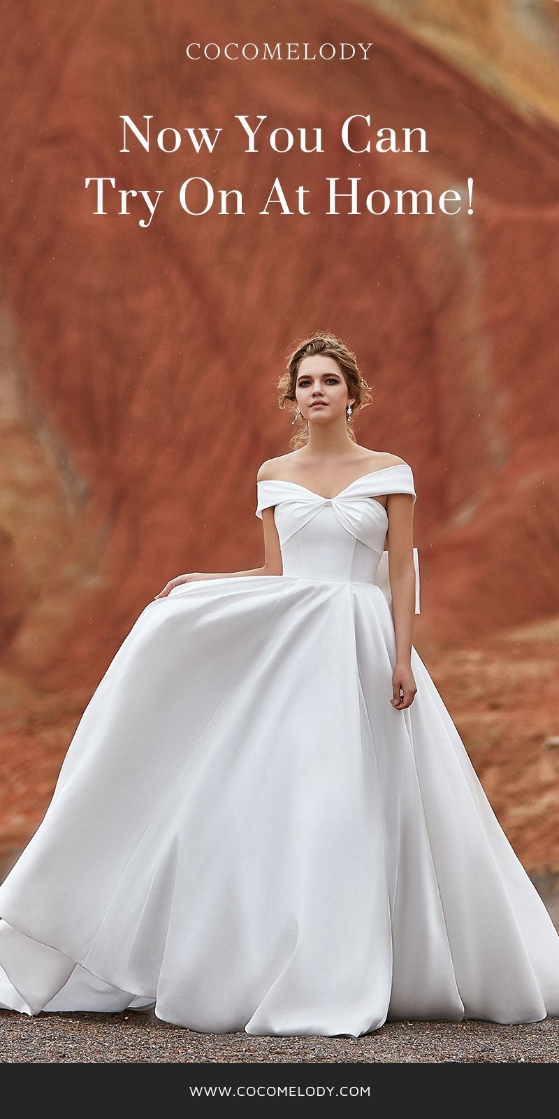 0e904ea1e40 A-Line Court Train Silk satin Wedding Dress LD5801 in 2019 | Try At ...