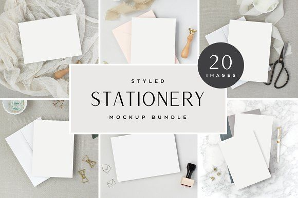 96b55c95d Neutral Stationery Mockup Bundle by The Stationery Stock Shop on   creativemarket