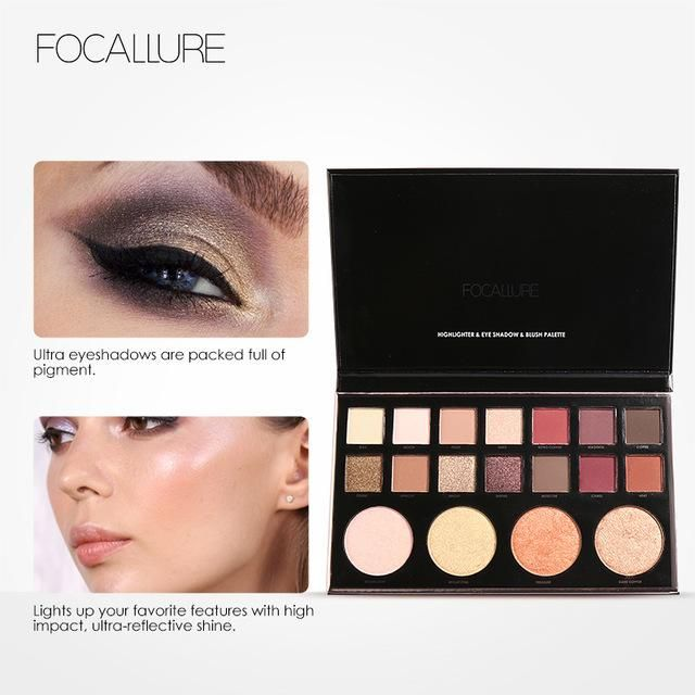 Devoted Focallure 14 Colors Eye Shadow Palette Matte Glitter High Pigment Hot In Ins Palette Eyeshadow With Brush Eyes Makeup Eyeshadow Beauty Essentials