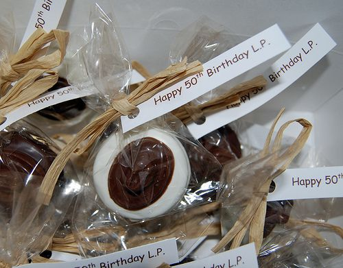 chocolate dipped oreo cowboy hat 50th birthday favors 50th