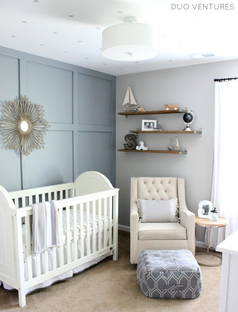 Hamptons Inspired Nautical Travel Nursery Project