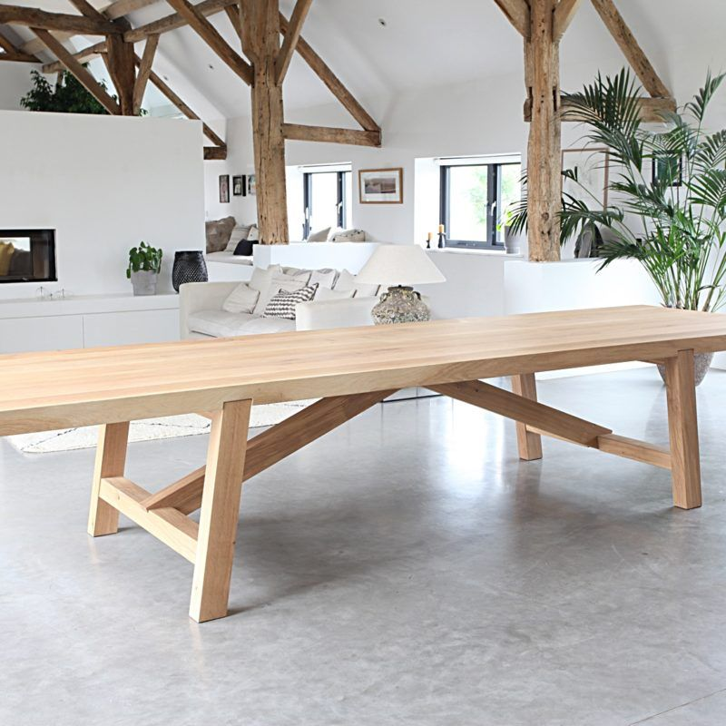 Chunky Oak Dining Table Oak Dining Table Solid Oak Dining Table Timber Dining Table