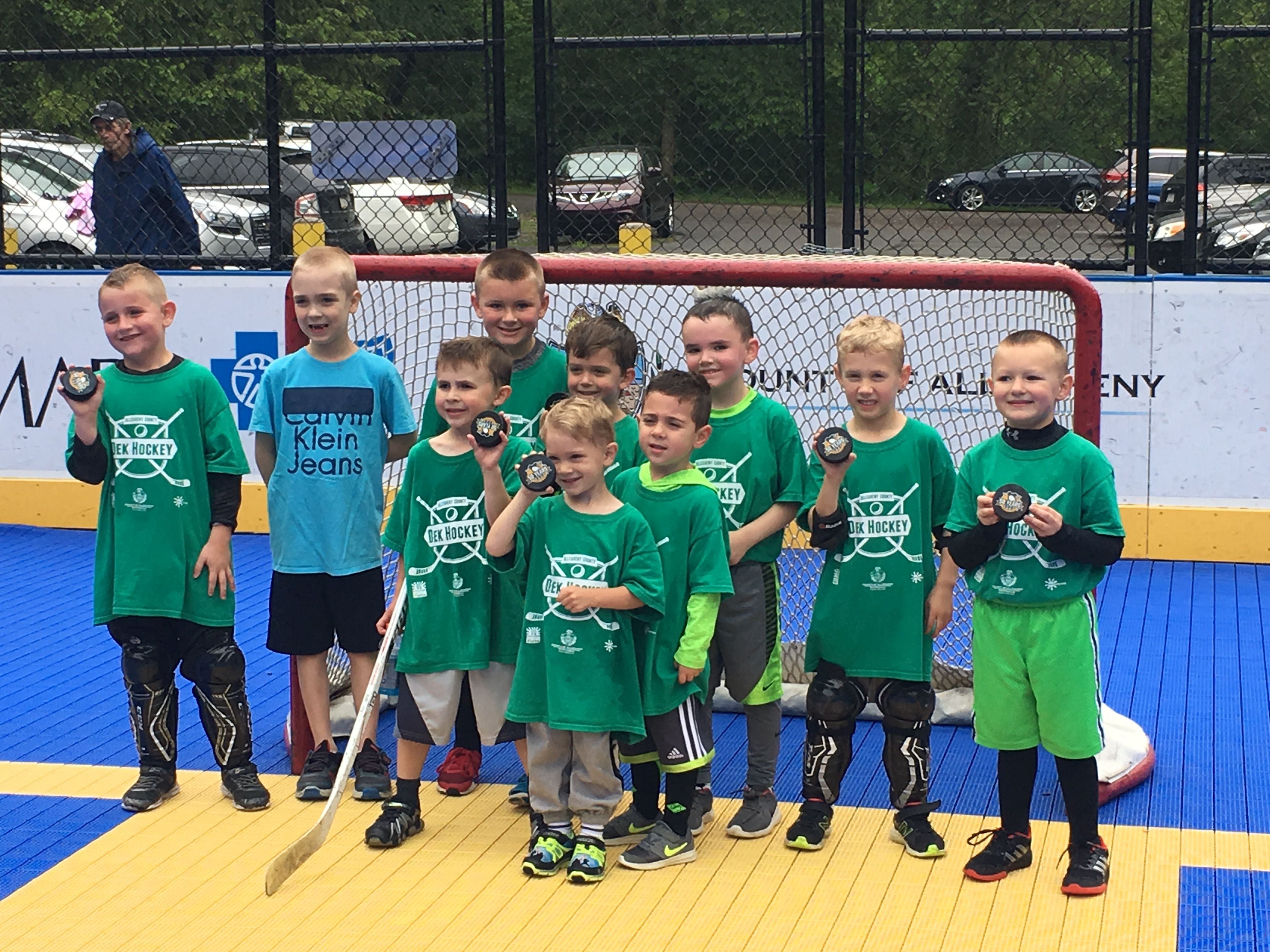 We love hockey of all kinds!    A day on one of our dek