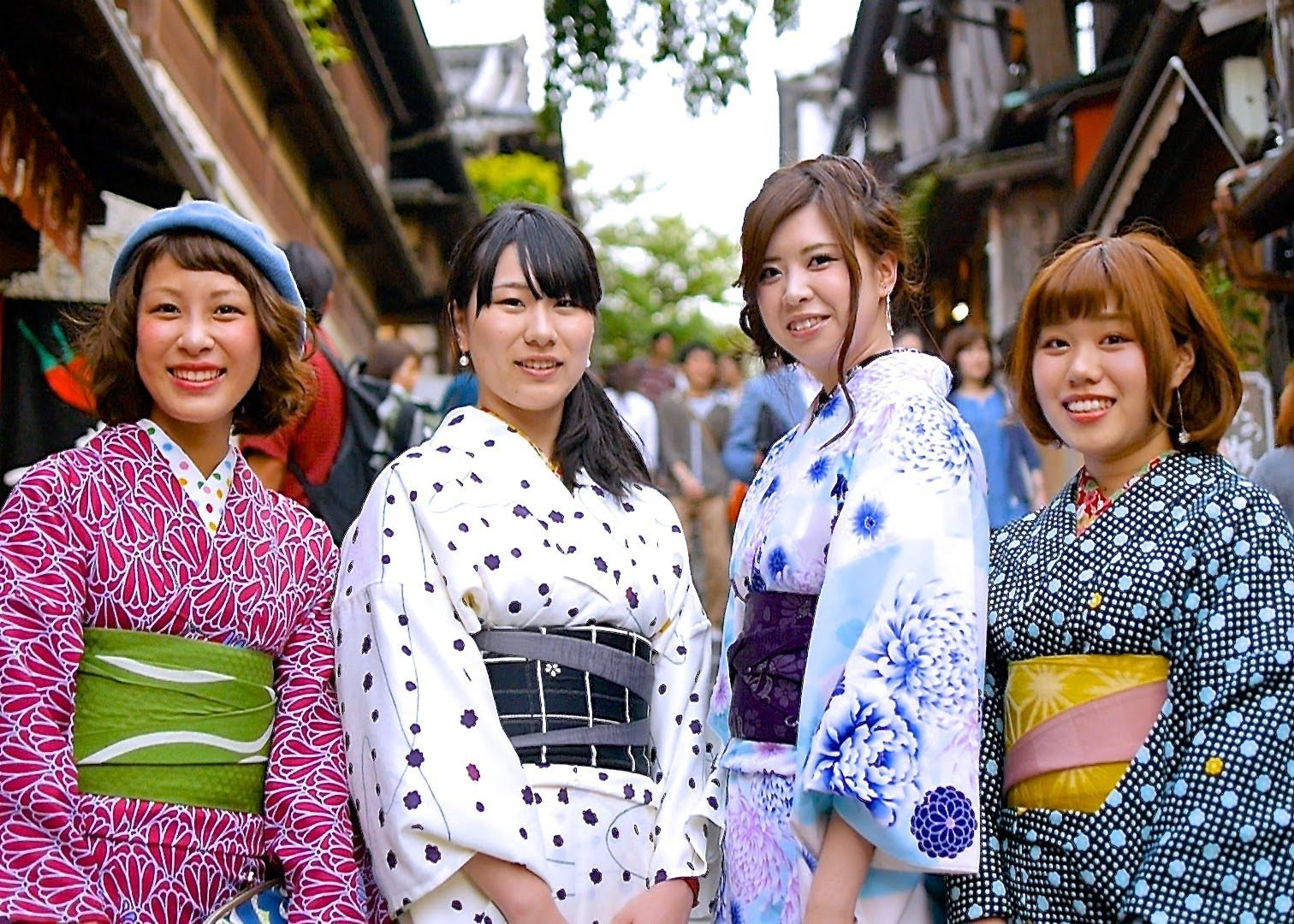 Kyoto Kimono Beauties Compilation Vol.1 - 京都 着物美人 総集編Vol.1
