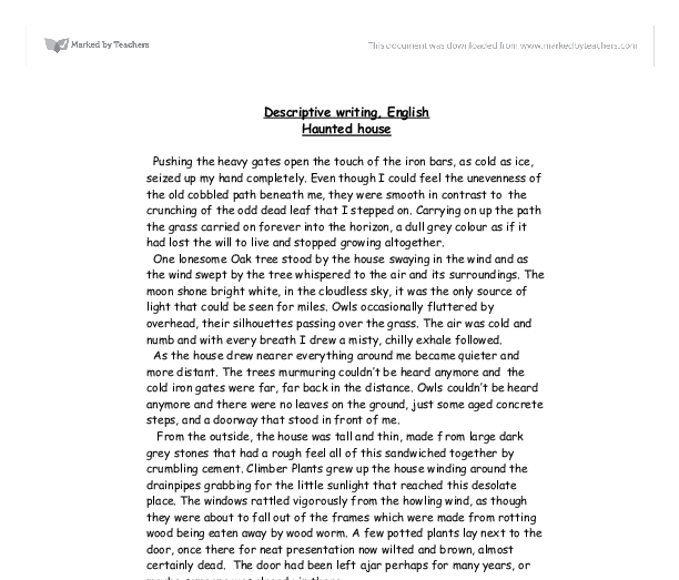 descriptive essay example about a place pdf