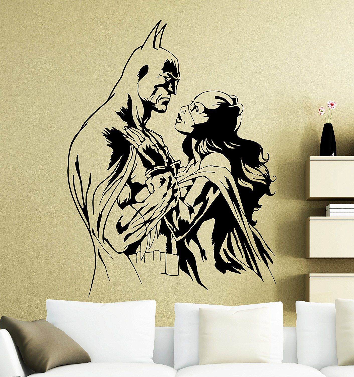 Batman and Catwoman Wall Decal Superhero Sticker Dark Knight Comics ...