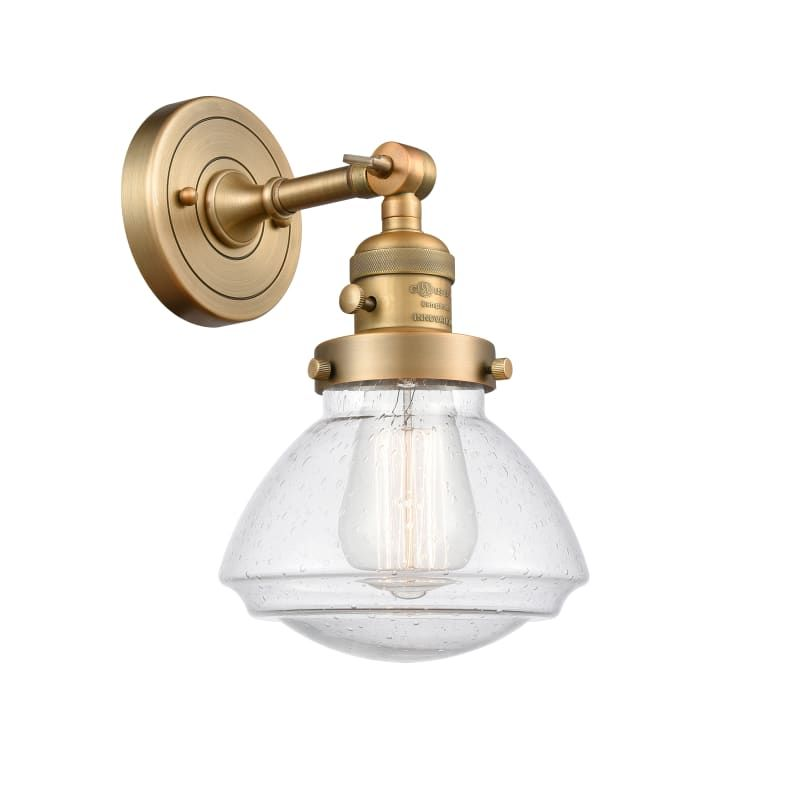 "Photo of Innovations Lighting 203SW Olean Olean 8 ""high bathroom lamp Brushed brass / Seedy interior lighting bathroom fittings bathroom lamp"