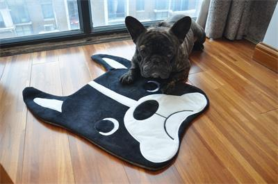 French Bulldog Floor Mat French Bulldog Sleeping Dogs White