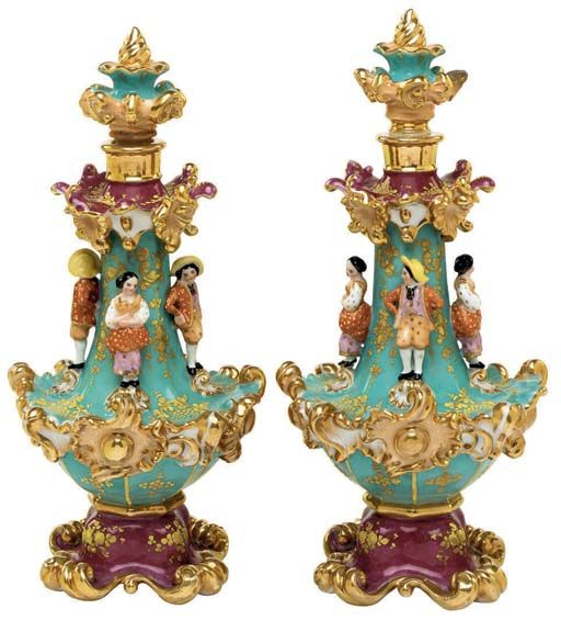 JACOB PETIT PORCELAIN TURQUOISE AND