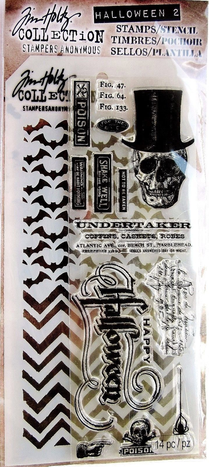 Tim Holtz Stampers Anonymous Numbered  Stencil  THS020  new