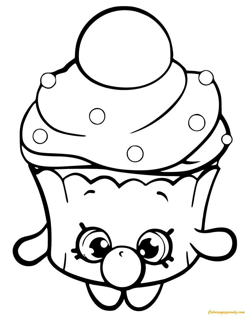shopkins coloring pages season 6 9 r cupcake