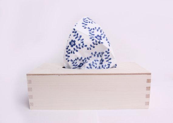 Wooden Tissue Box Unfinished Unpainted Plain Wood Box