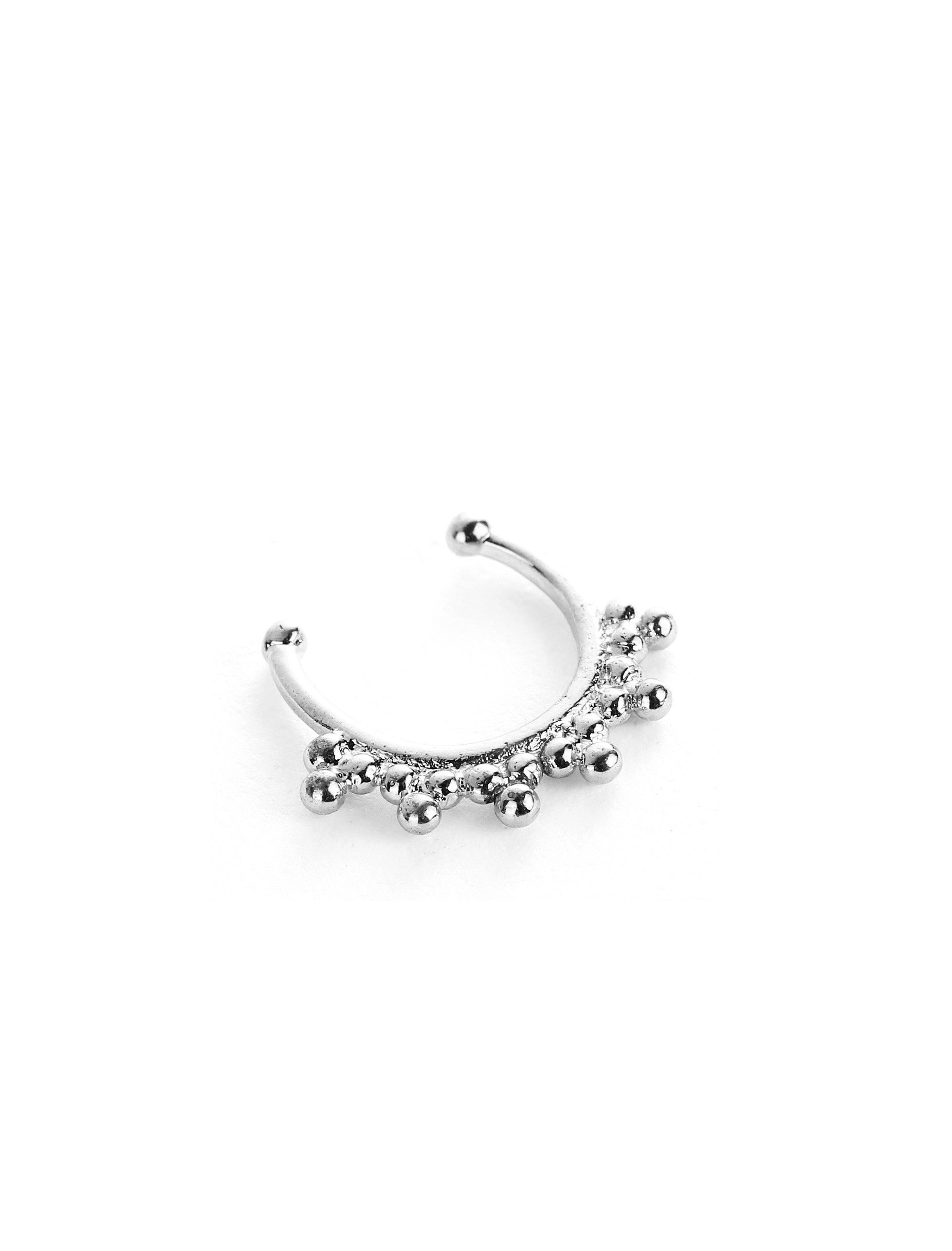 See through nose piercing  ETERNAL SUNSHINE FAUX SEPTUM RING SILVER  FAUX SEPTUM RINGS