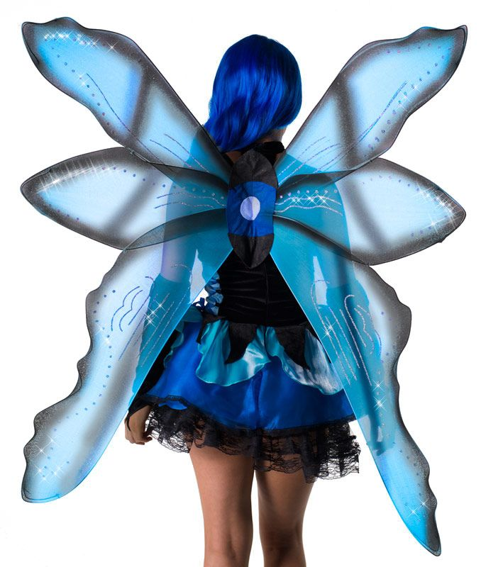 Fairy Halloween costumes | Over Sized Blue Glitter Fairy Wings