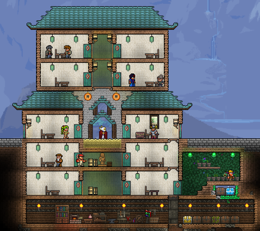 Terrarium Terraria House Design: Pin By Josh Delk On Terraria Pro