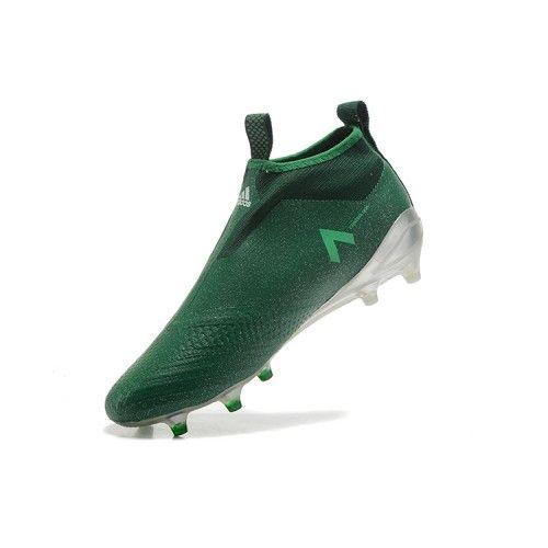 separation shoes 9cb3d 0a589 Adidas ACE - Barato 2017 Adidas ACE 17 PureControl Plata Verde Blanco  Zapatos De Futbol