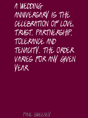 Wedding Anniversaries Quotes Anniversary Is The Celebration Of Love Trust Partnership