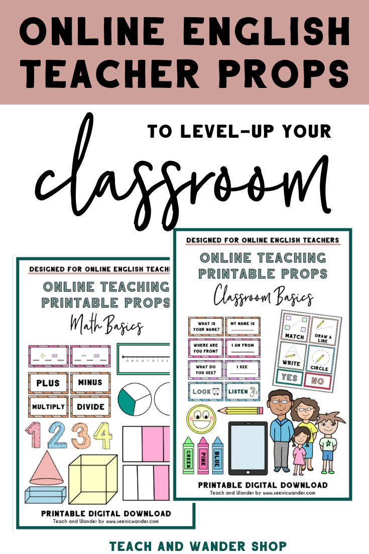 picture about Vipkid Printable Props known as Clroom Basic principles - Printable Props for On-line English