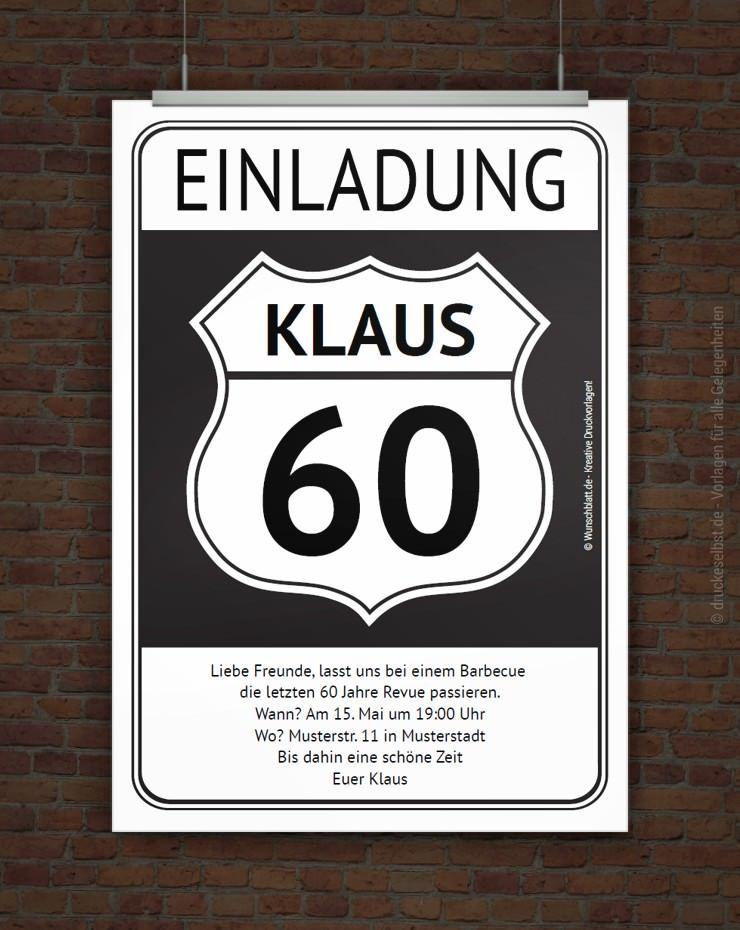 Lustige Einladung Zum 60 Geburtstag Free Printables Pinterest