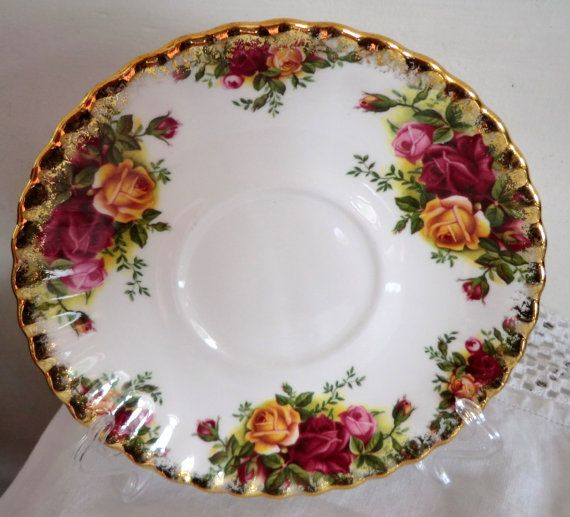Royal Albert OLD COUNTRY ROSES Soup Coupe Saucer / Plate / Tray ...
