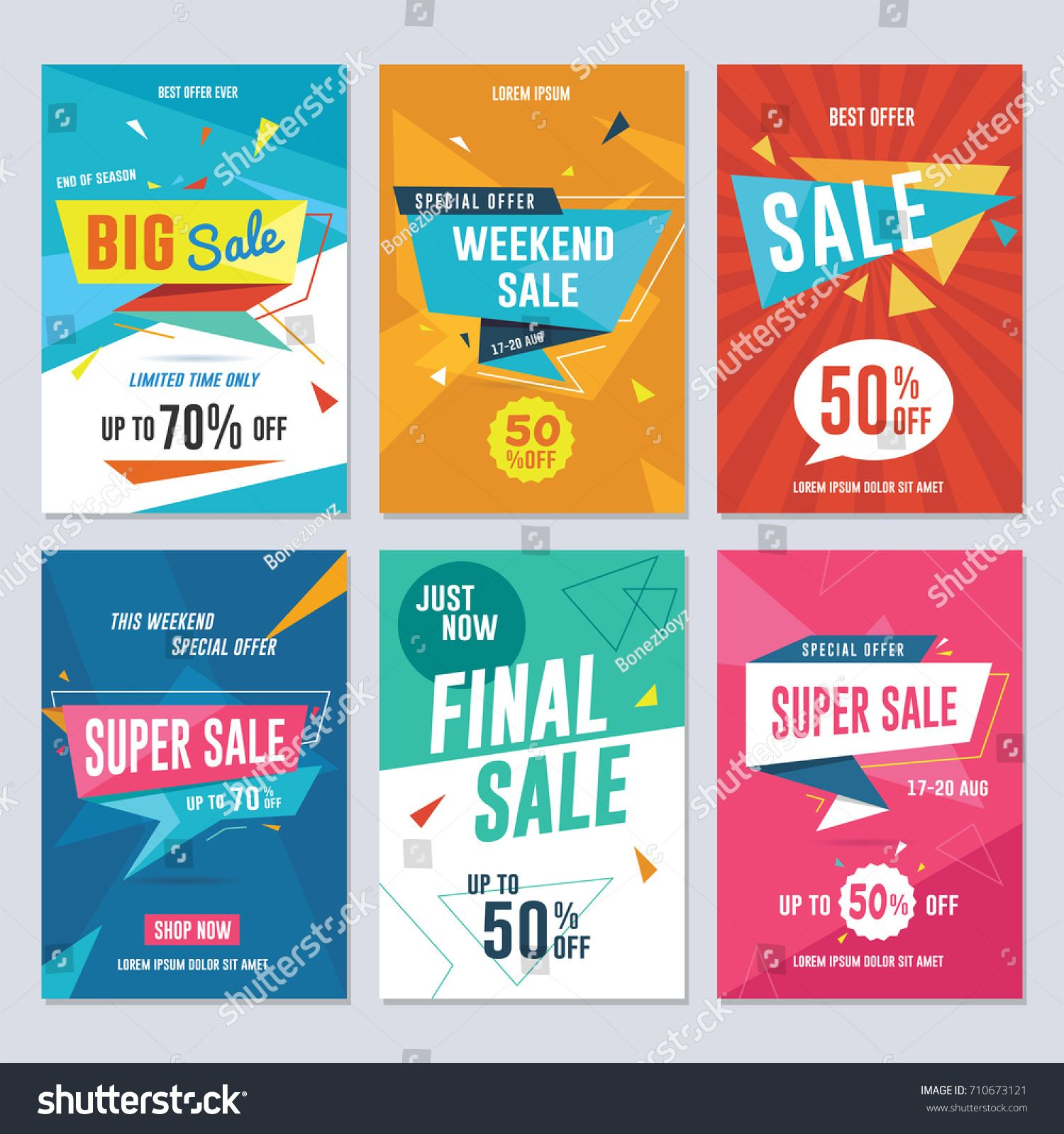 Sale Discount And Promotion Flyer U002f Banner Template Vector