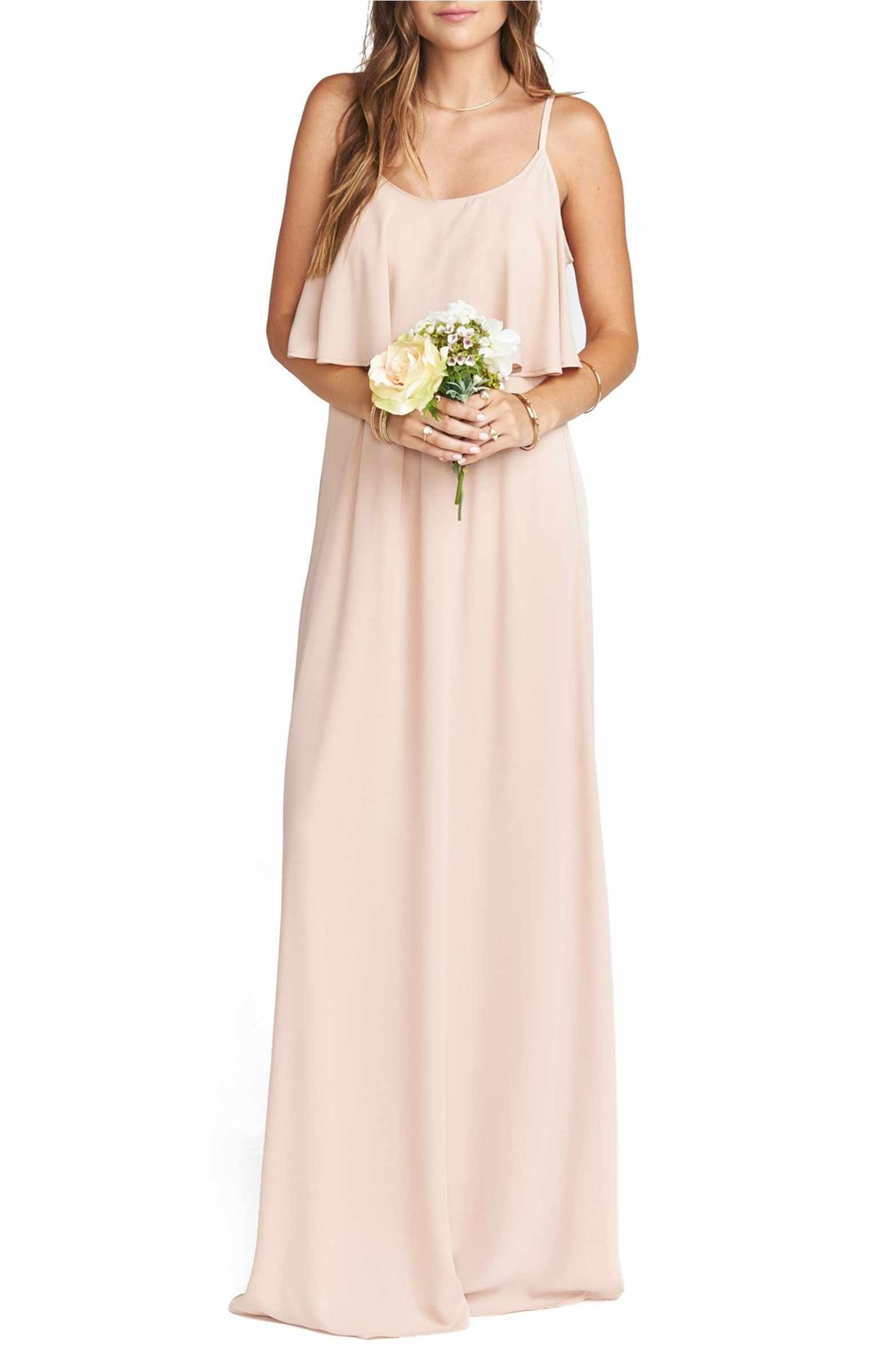Caitlin Cold Shoulder Chiffon Gown | Chiffon gown, Cold shoulder and ...
