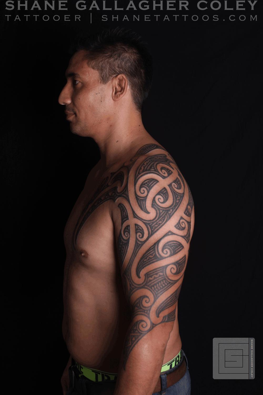 009e7fd2c SHANE TATTOOS: Maori Sleeve Chest Tattoo Ta Moko | Chest Tattoo ...
