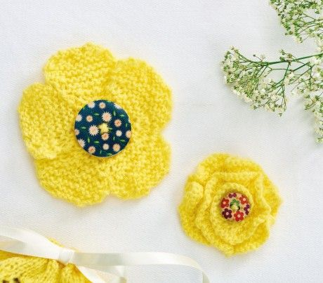 Quick Flowers Free Knitting Patterns Flowers Simple Flowers
