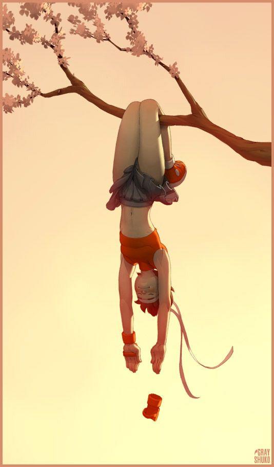 Sakura Character Art Animation Art Art