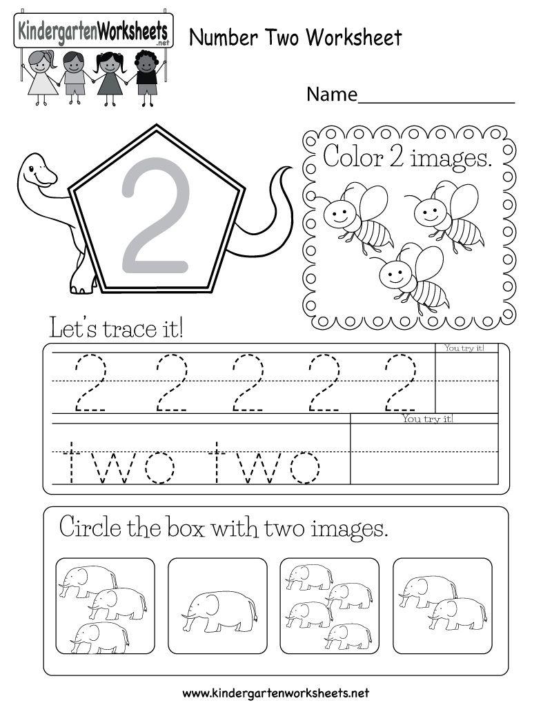 Kindergarten Number 2 Worksheet Kindergarten Math Worksheets Free Kids Math Worksheets Kindergarten Math Free [ 1035 x 800 Pixel ]