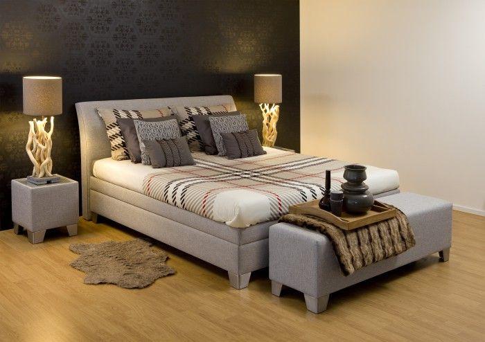 Boxspring in een gezellige slaapkamer google zoeken binnenhuis pinterest searching - Gezellige slaapkamer ...