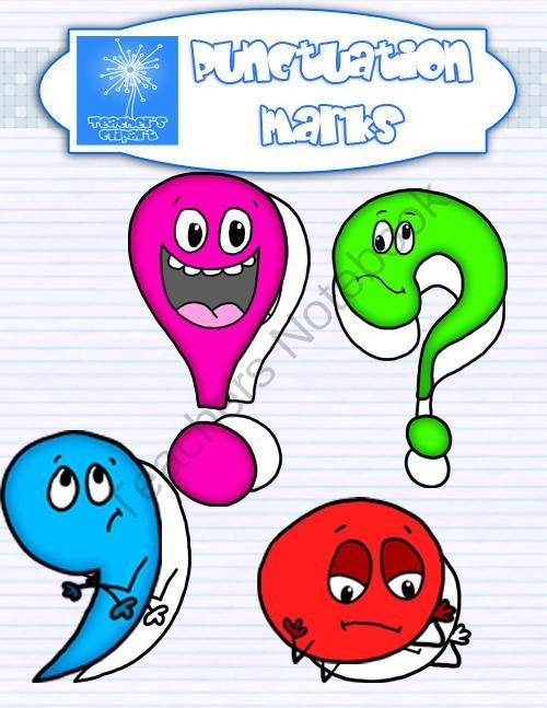 Punctuation marks with expressions from Teacher s Clip Art ...