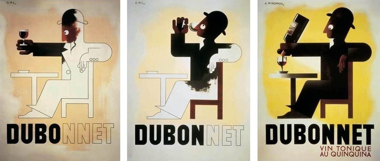 Título: Dubonnet Autor: Cassandre Descripción: Técnica de ilustración. Simpleza en la representación del mensaje. Composición.