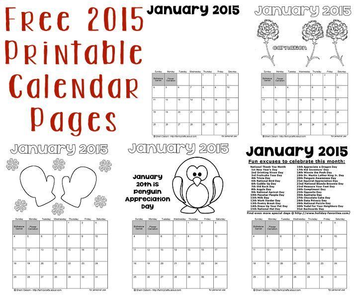 calendar pages print free - Calendar