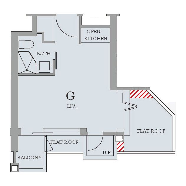 Flat G Tower 1 Park Summit 274 Square Feet Slightly Larger Than Flat D Can You Discover It Floor Plans Flat Roof Kitchen And Bath