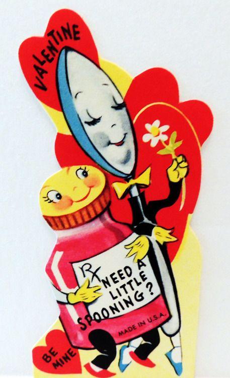 Vintage Valentine Card Heart Retro Valentines St Valentines – Unusual Valentines Day Cards