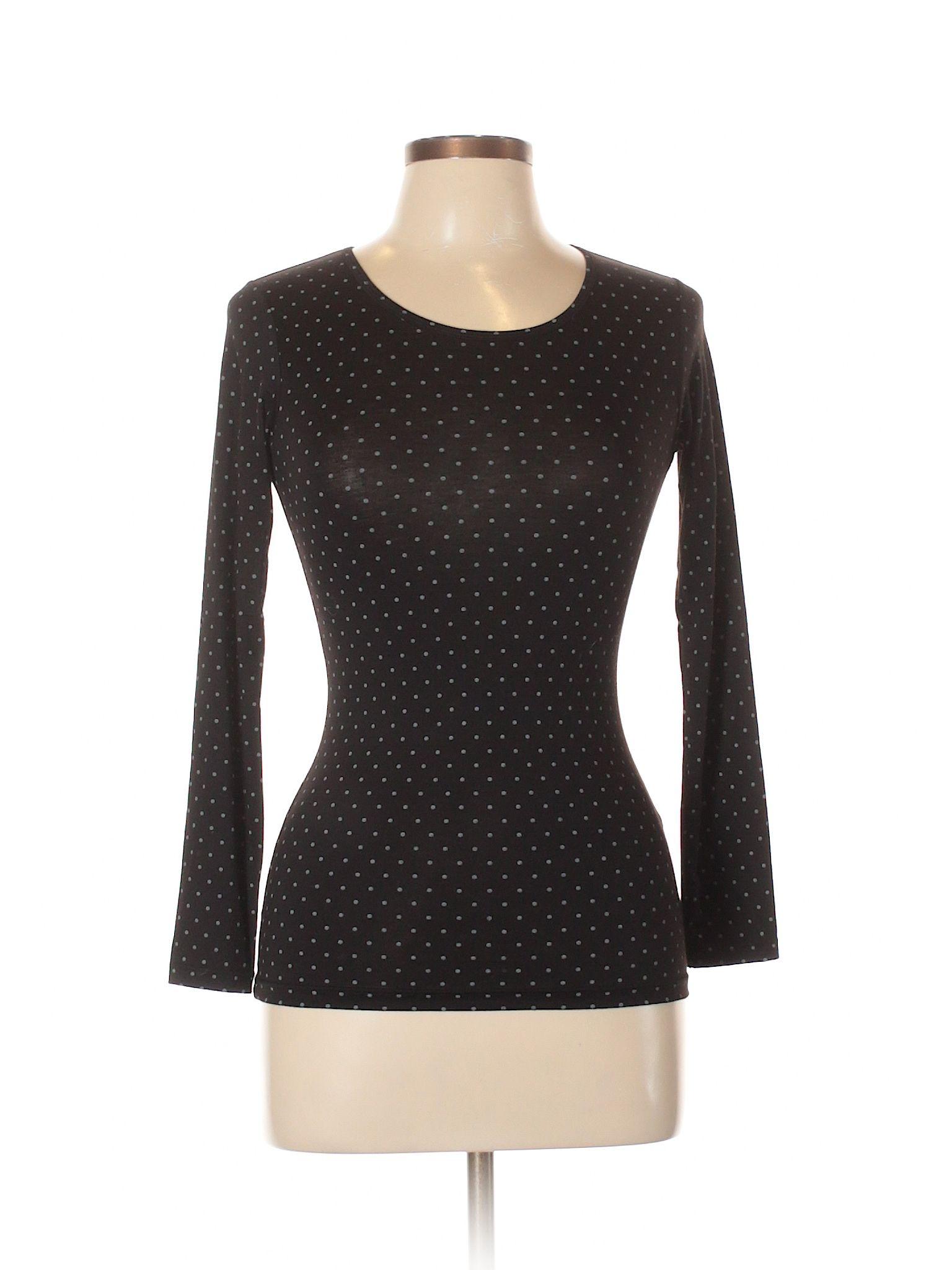 Ut for uniqlo long sleeve t shirt size black womenus tops