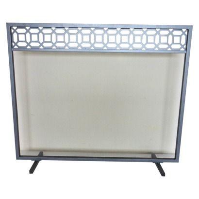 Threshold Geometric Fireplace Screen Antique Iron