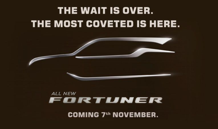 new toyota fortuner launching on november 7th   car news